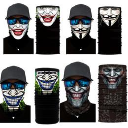 Fischmaske online-Halloween-Skelett-Motorrad-Fahrrad-Gesichtsmaske Schal Joker Stirnband Schädel-Maskerade-Masken für die Ski-Fahrrad Angeln Outdoor Sport