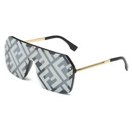 Grandes gafas vintage online-Hot 2019 One Piece Diseñador de la marca con F Wrid gafas de sol cuadradas Mujeres de lujo de gran tamaño Big Frame Vintage gafas de sol hombres espejo # 1706