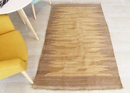 Alfombras turcas online-kilim turco Folk Alfombra PARED arte geométrico Anticuarios de lana anudados a mano alfombra de la manta