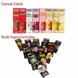 Suministros de cartucho online-Dank Vapes Cartridge New Black Cereal Carts box Caja vacía Vape Pen Grueso Aceite Atomizador Cartuchos Tanque Vaporizador 40 Sabores Paquete Suministro de fábrica
