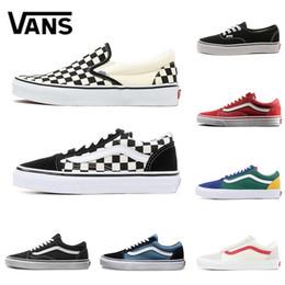 850a7e954e 2019 scarpe canvas nero uomo Vans old skool slip on top qualità uomo donna  Canvas sneakers