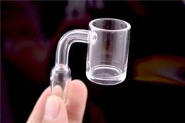 ciotola di vetro di quarzo di 14mm Sconti 25mm xl chiodo al quarzo 4 mm di spessore al quarzo banger dab nail strumento bong ciotola 10mm 14mm 18mm femmina maschio secchio di vetro ciotola per vetro acqua bong