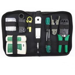 Rj45 netzwerk tester kit online-11 teile / satz RJ45 RJ11 RJ12 CAT5 CAT5e Tragbare LAN Netzwerk Repair Tool Kit Utp Kabeltester UND Zange Crimp Crimper Stecker Clamp