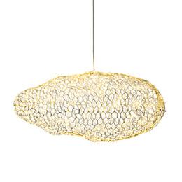 Люминесцентные лампы онлайн-Современный Светодиодный Светлячок Подвесной Светильник Золотое Облако Подвесной Светильник Для Кабинета Кабинета Кафе Домашнего Освещения AL096