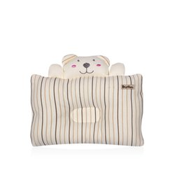 Almohada de cabeza de oso online-Lovely Bear Baby Pillow Newborn Boys Girls Sleeping Apoyo Anti Flat Head Cushion Para bebés Ropa de cama para niños pequeños Sleep Posicionador