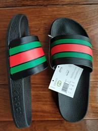 Argentina Sandalias de moda para hombre Zapatillas clásicas Raya Diseñador Causal Diapositiva Huaraches Chanclas Chanclas Mocasines Sandalias de playa cheap stripe loafers Suministro