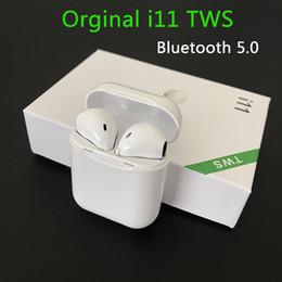 samsung s6 auricular bluetooth Rebajas Nuevo i11 TWS Bluetooth 5.0 inalámbrico de auriculares Auriculares Mini auriculares con el Mic para el iPhone Samsung S6 S8 Xiaomi Huawei LG coche Auriculares