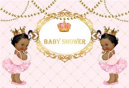 7x5FT розовые бриллианты Корона Близнецы девушка душа ребенка пользовательские фотостудия фон винил 220см х 150см от