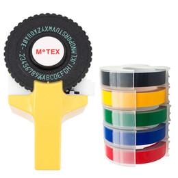 fita 9mm Desconto Motex E101 Manual fabricante de etiqueta manual DIY Mão Decorativa Tape Manual Máquina de Escrever para 9mm 3D gravação de PVC fitas de etiquetas de plástico