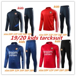 Meias ternos on-line-2019/20 Feyenoord crianças Metade puxar fato de treino 2019 2020 V.PERSIE 19 Berghuis 10 VILHENA 9 JORGENSEN crianças treino