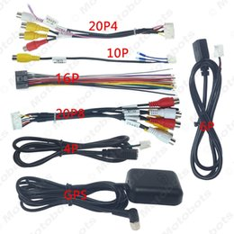 Car Head Unit Stereo Wire Harness Kits Compatible 8-RCA USB GPS For Vehicle Stereo Wiring Harness Adapter Kits on chevy trailblazer stereo harness adapters, stereo wiring harness kit, car stereo adapters, stereo wiring harness color codes, car audio harness adapters, radio harness adapters,