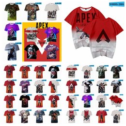 Camisetas de videojuegos online-Apex Legends camiseta 37 estilos Verano 3D Imprimir juegos de video Manga corta O Cuello Camisetas Chándal Tops deportivos Blusa adolescente XXS-4XL AAA1827