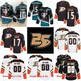 056411f1e 25th Anaheim Ducks Jersey 15 Ryan Getzlaf 17 Ryan Kesler 67 Rickard Rakell  10 Corey Perry 7 Andrew Cogliano Hockey Jerseys