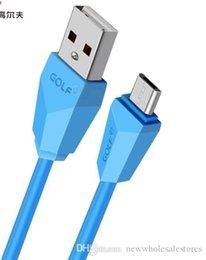 Cabo de iluminação plano on-line-REINO UNIDO Atacado 2019 novo Cabo USB Plano para android cabo 2A luz para micro sincronização do telefone móvel