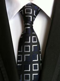 Gravata de seda on-line-Homens da moda Laços Gravata De Seda Dos Homens Gravatas Gravatas Carta de Festa de Casamento Artesanal Gravata de Negócios laços