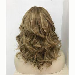 Parrucca kosher europeo online-Onda bionda su misura, capelli vergini europei, parrucche kosher, parrucche ebree spedizione gratuita