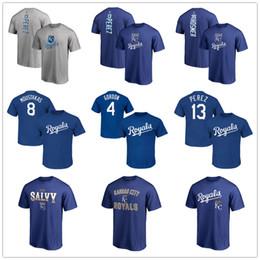 2019 fan royal 13 Salvador Perez Kansas City 6 Camisetas de Lorenzo Cain Royals 4 Alex Gordon 35 Eric Hosmer Camisetas para hombre Aficionados Tops Logotipos impresos rebajas fan royal
