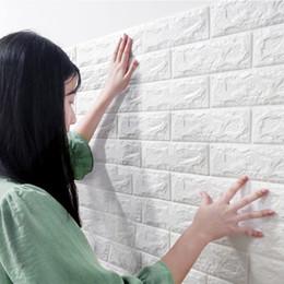 quarto de parede para crianças Desconto Auto-adesivo Wallpaper Peel e vara 3D painel de parede Sala de tijolo adesivos crianças quarto quarto Brick Wall Papers Home Decor