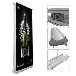 Рулонная печать баннера онлайн-Широкий выбор делюкс двойной экран сверните вверх Знамя стоит с двойным 120x200cm баннер печать сумка упаковка