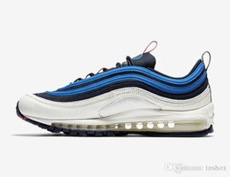 404ebbf1ce Designer Shoes 97 Og Authentic Sneakers Blue White 97s Premium Running  Shoes Men Sports Trainers Women Obsidian University Outdoor Sneaker