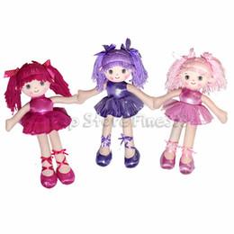 Handgemachte hochzeitspuppen online-Ballerina-Mädchen Puppen Ballett Plüschtiere Schöne handgemachte Prinzessin Tanzmädchen Hochzeit Stuffed Puppen einzigartige Geschenke für Kinder Mädchen