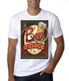 2019 t uhr NEW MENS IT'S BIER O'CLOCK T-SHIRTTees Kundenspezifisches Jerseyt-shirt rabatt t uhr