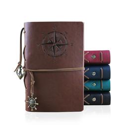 Cuaderno pirata online-Pirata cuaderno de viaje de la vendimia del diario Libros Kraft papeles en blanco cuaderno de Bloc de notas del estudiante Pirate School Noteooks clásicos