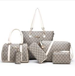 2019 yeni moda anne çantası altı parça basit vahşi omuz asılmış baskı çanta ücretsiz kargo nereden