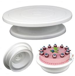 2019 подставки для стен DIY Пан выпечки инструмент пластиковые торт пластины поворотный стол вращающийся противоскользящие круглый торт стенд торт украшение поворотный стол Кухня скидка подставки для стен