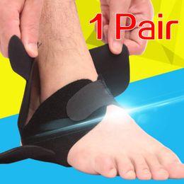 2019 coldres de arma preta (243X) Protetor respirável da cinta do apoio do tornozelo com compressão do futebol dos esportes da correia