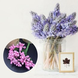berry beads diy Coupons - Artificial Flowers Simulation with Leaf Glass Beads Small Berry Flower DIY Handmade Garland Home Decorations Dropshipping