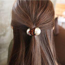 garras pinzas para el cabello perlas Rebajas NUEVO 1PC Girls Pearl Hairpins Gifts Mini Hair Claw Vintage Retro Hair Clips Styling Tools G0315