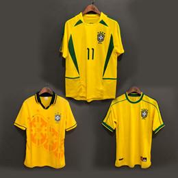 5ede73408 1998 Brazil home soccer jerseys 2002 Brasil retro classic shirts Carlos  Romario Ronaldo Ronaldinho Jersey camisa de futebol 1994