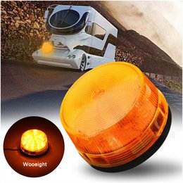 amber vehicle lights Coupons - Wooeight Dome 12V LED Magnet Mount Construction Vehicle Car Warning Strobe Lamp Beacon Amber Flashing Emergency Lights