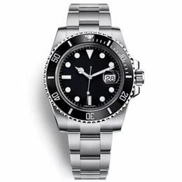 2019 crono preto Relógios Homens Automático Preto Cerâmica Bezel Dial 116610 Chrono Relógios Homem de Aço Inoxidável Relógio De Pulso Novo Esportes Fugitivo relógio de Pulso desconto crono preto