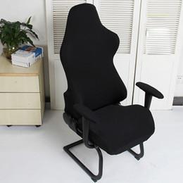 Cadeiras de escritório on-line-Spandex Poltronas Assentos De Computador Gaming Macio Cadeira Capas de Poliéster Escritório Elástico Removível Modern Lavável Protetor