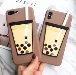 Chá dos casos on-line-Engraçado phone case para iphone x xres xs max 3d leite chá tampa traseira para iphone 6 7 8 além de