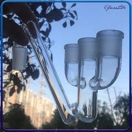 4.5 tubos de vidro on-line-4.5 polegadas de água de vidro bongs percolator recuperador de coletor de 18mm adaptador coletor de cinzas para queimador de óleo de vidro tubo dab rig bong grande
