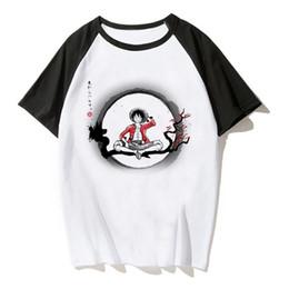 Anime de uma peça camiseta on-line-Nova One Piece T Shirt Homem Anime Japonês Camisa Dos Homens T-shirt Luffy T Camisas Roupas Tee Impresso Camiseta de Manga Curta crianças