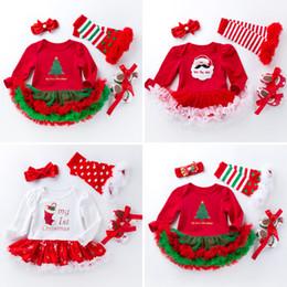 modelos de vestidos de desenhos animados Desconto A-018 bebê menino outono e inverno modelos de roupas infantis de natal bebê feminino de manga comprida vestido saia dos desenhos animados romper terno novo