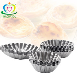 disposable cups small Coupons - Baking utensils lace round oval stainless steel egg tart mold small cake cup pudding jelly mold wholesale