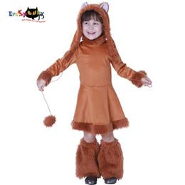 55f8fd5e63b1 Accessories Cosplay Costumes Eraspooky halloween for kids Sweet Fox Girls  Costume christmas birthday cosplay children dress hat and boot.