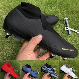 stivali da cocco Sconti Uomini Phantom VSN Elite DF SG Scarpa calcio easports Triple Nero Furry Charged uomini del progettista Grigio Rosso di lusso scarpe da calcio