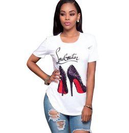 Style de la mode des femmes impression numérique T-shirt marque vêtements manches courtes chemises élastiques femmes décontractées tees tops taille S-3XL ? partir de fabricateur