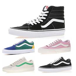 5703fa78 Venta al por mayor para hombre lienzo Original Vans viejo skool sk8 hi zapatillas  negro blanco rosa YACHT CLUB Strawberry skate zapatos casuales tamaño 36-  ...