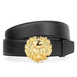 Marca para hombres y mujeres cinturón 2019 diseño nuevo cinturón de cabeza de león redondo diseñado para hombres y mujeres de moda y hebilla de plata cinturón de alta calidad desde fabricantes