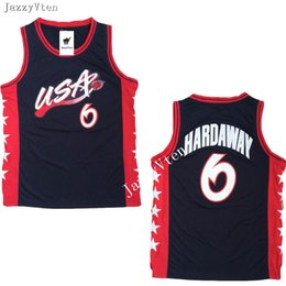 2020 camisas de basquete americano New arrived1996 EUA Equipe American Basketball Jerseys Shaquille O'Neal 4 Charles Barkley 6 Penny Hardaway 8 Scottie Pippen 15 Hakeem Olajuwon camisas de basquete americano barato