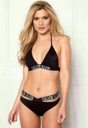 Amerikanische bikinis online-2019 neue Auflistung europäischen und amerikanischen Frauen sexy versammelten Sling Fashion Split Bikini