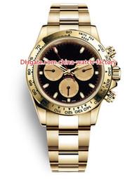 10 orologio di alta qualità di vendita calda di stile 40mm Cosmograph 116508 116528 No cronografo automatico di uomini di oro giallo 18k meccanico degli orologi degli uomini da