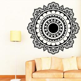 Bouddhisme Inde Mandala Stickers Muraux Pour Salon Namaste Inde Amovible Créatif Papier Peint Vinyle Mural Décoration de La Maison ? partir de fabricateur